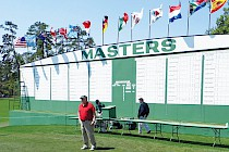 The leaderboard at Augusta Masters